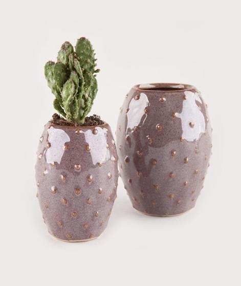 MADAM STOLTZ Stoneware Vase dots 6,5x9