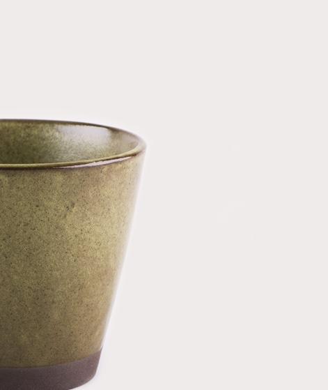 MADAM STOLTZ Stoneware Mug green