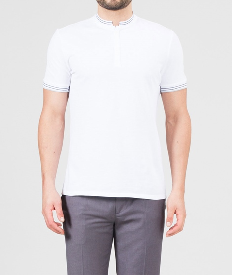 NOWADAYS Stand-Up pique Polo white