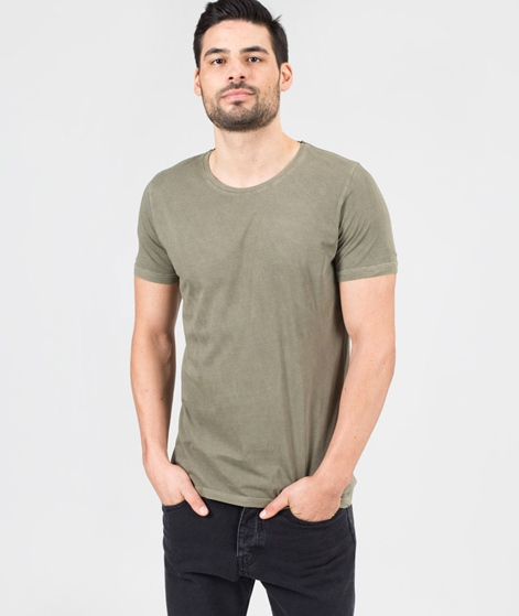 REVOLUTION Cotton dyed T-Shirt army