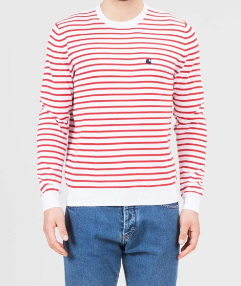 CARHARTT champ Pullover stripe goji