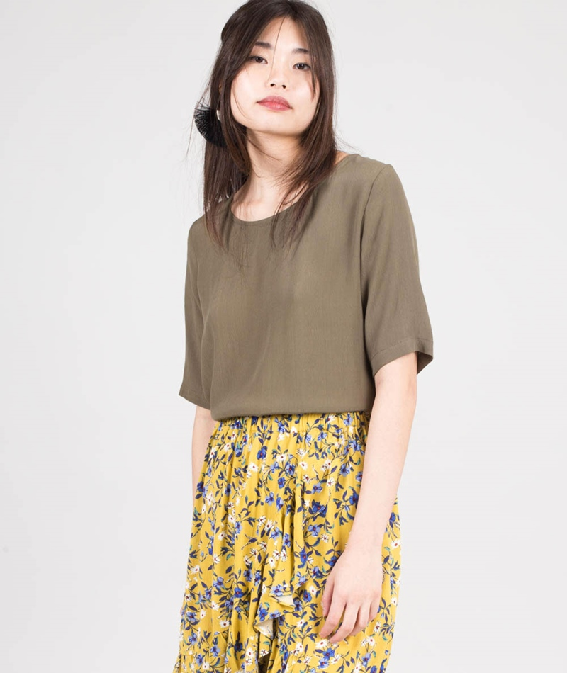 MINIMUM Elvire T-Shirt ivy green