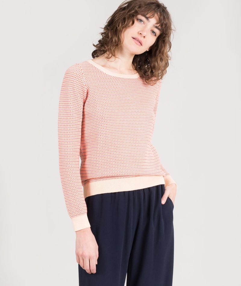 SUNCOO Pull Papoul Pullover corail