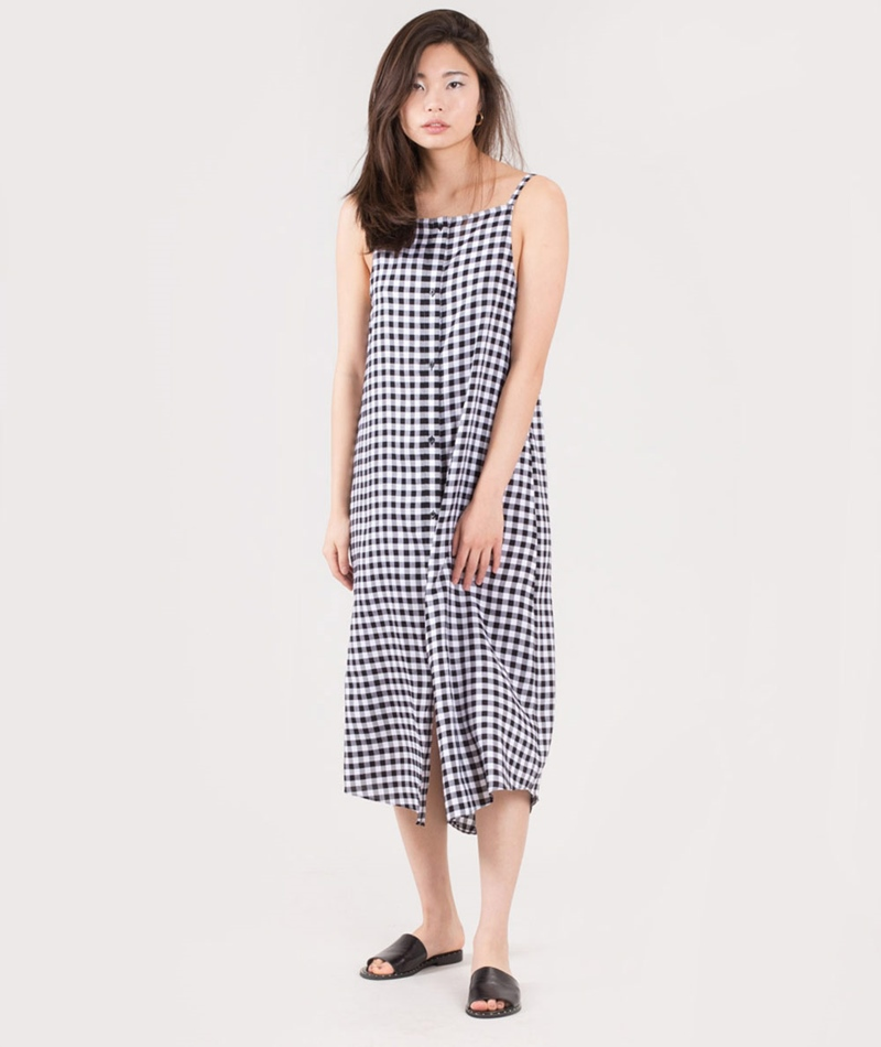 CHEAP MONDAY Track Kleid gingham check
