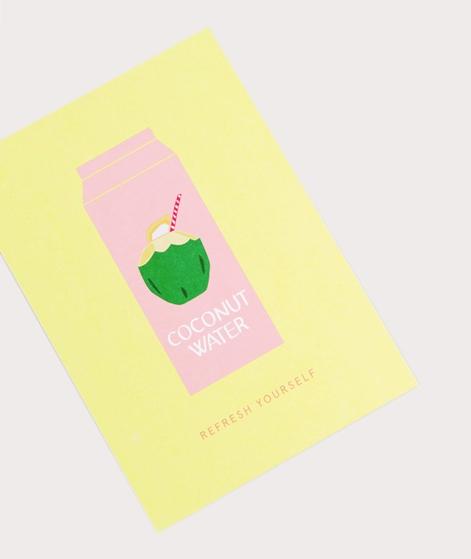 KAUF DICH GLÜCKLICH Postkarte Coconut