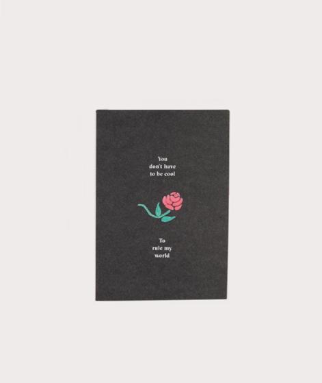 KAUF DICH GLÜCKLICH Postkarte Rose