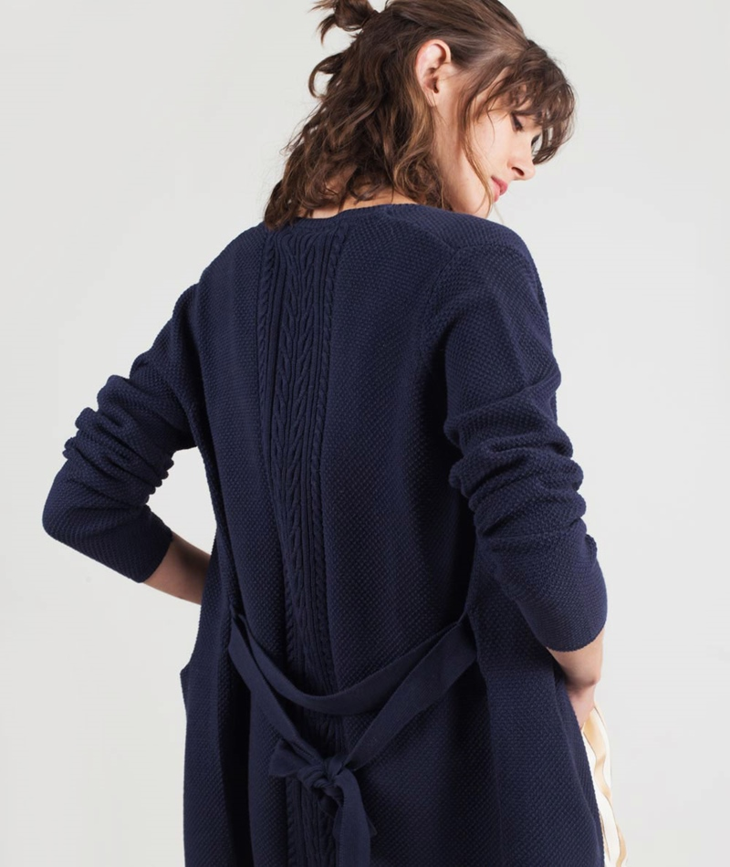 MINIMUM Ginne Cardigan dress blue