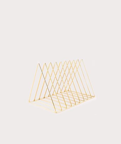 MADAM STOLTZ Plate Rack gold