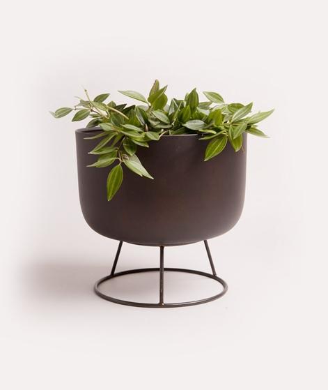MADAM STOLTZ Flower Pot w/round stand