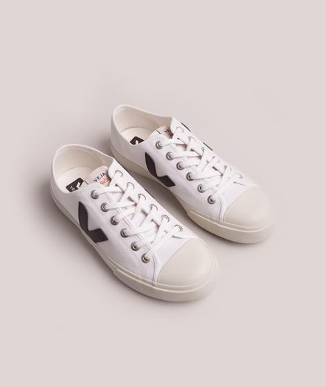 VEJA  Wata Sneaker canvas white black
