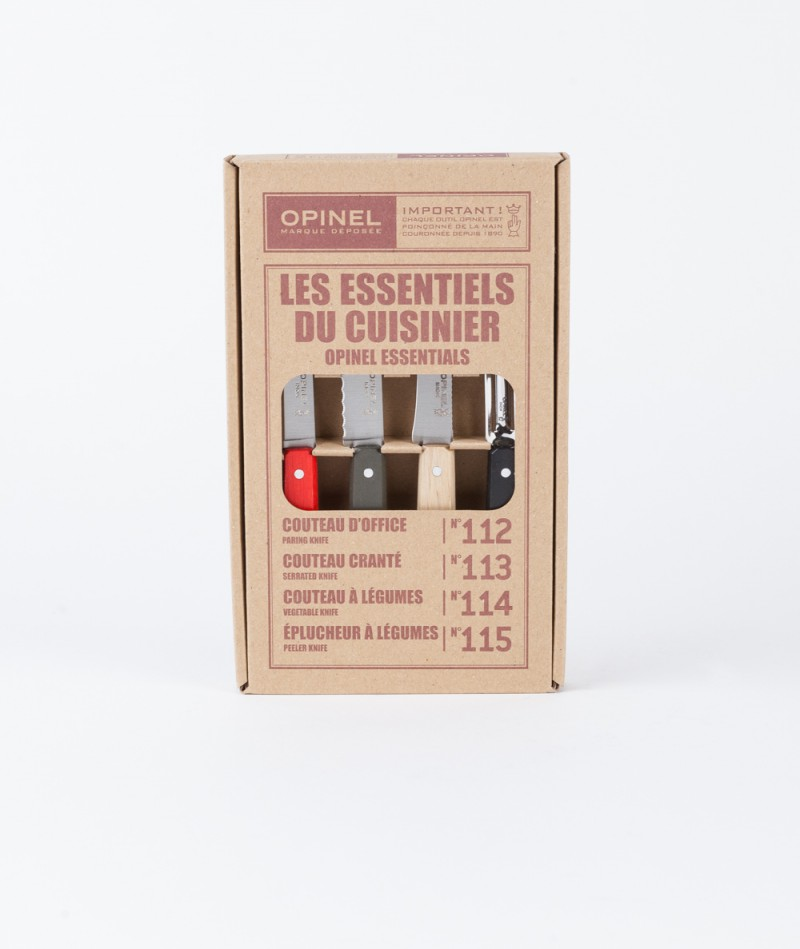 OPINEL Küchenmesserset red/black