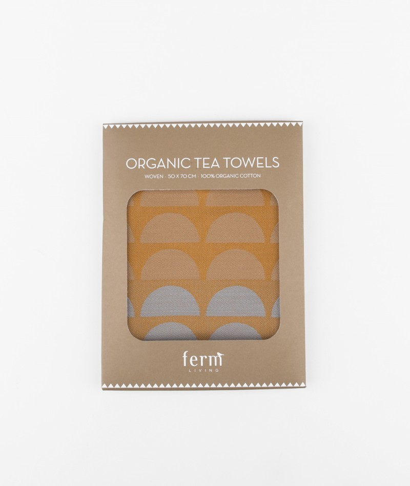 FERM LIVING Bridges Tea Towel rose