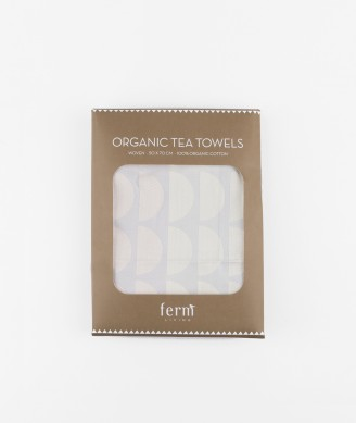 FERM LIVING Bridges Tea Towel grey