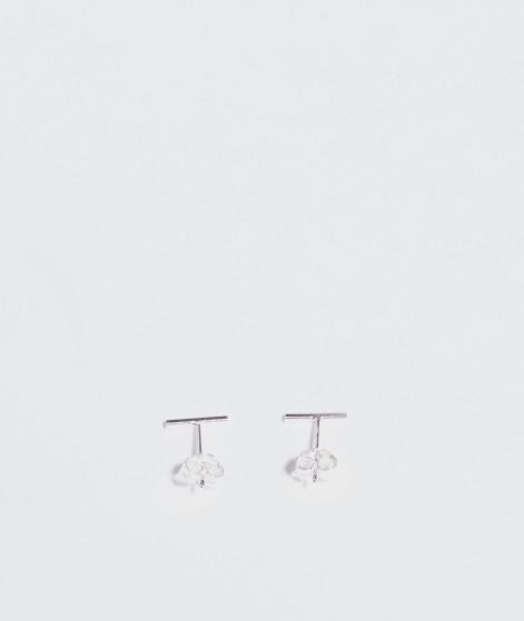 JUKSEREI Linie Ear Stud silber Xtra Fine