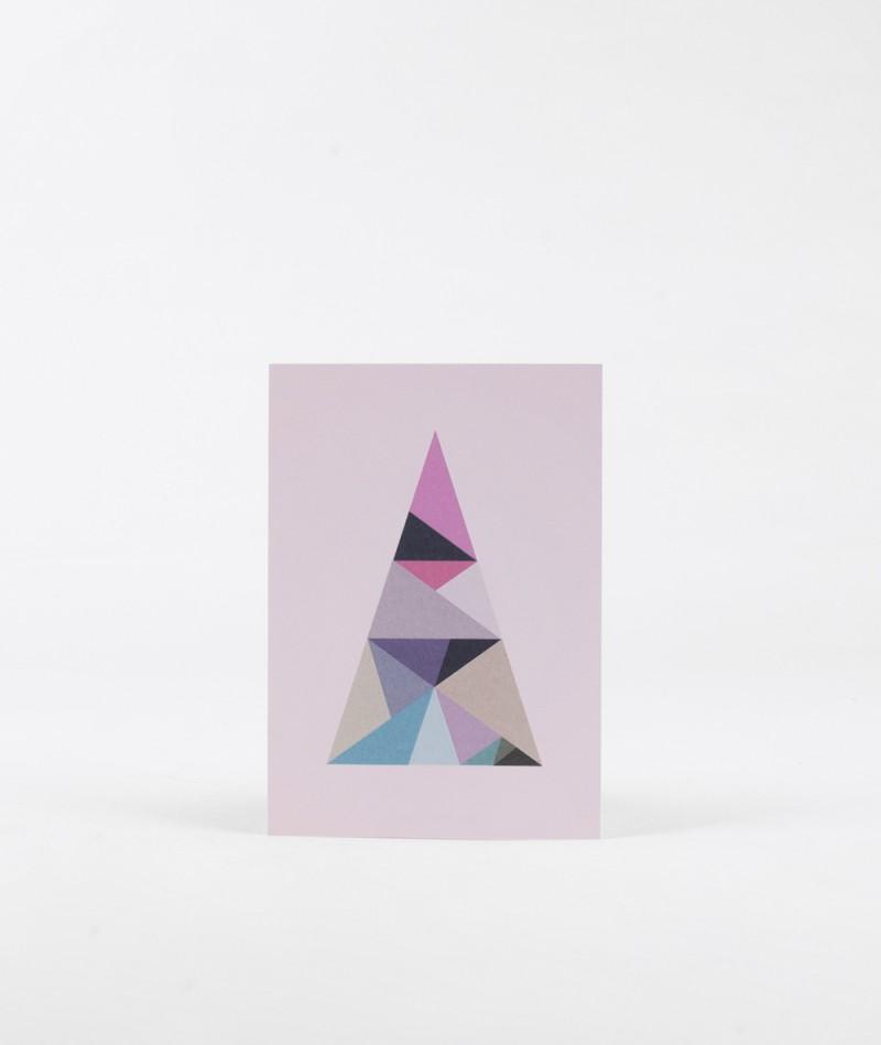 KAUF DICH GLÜCKLICH Postkarte Dreieck mu