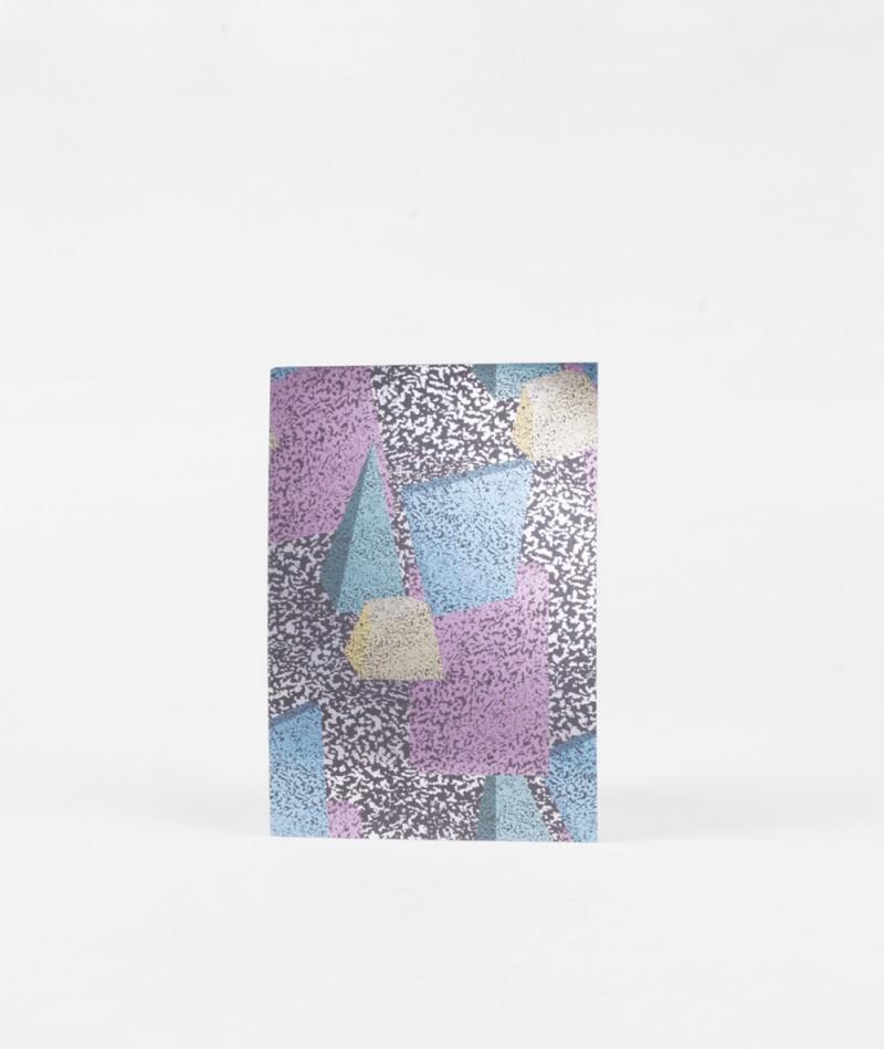 KAUF DICH GLÜCKLICH Postkarte Metallic