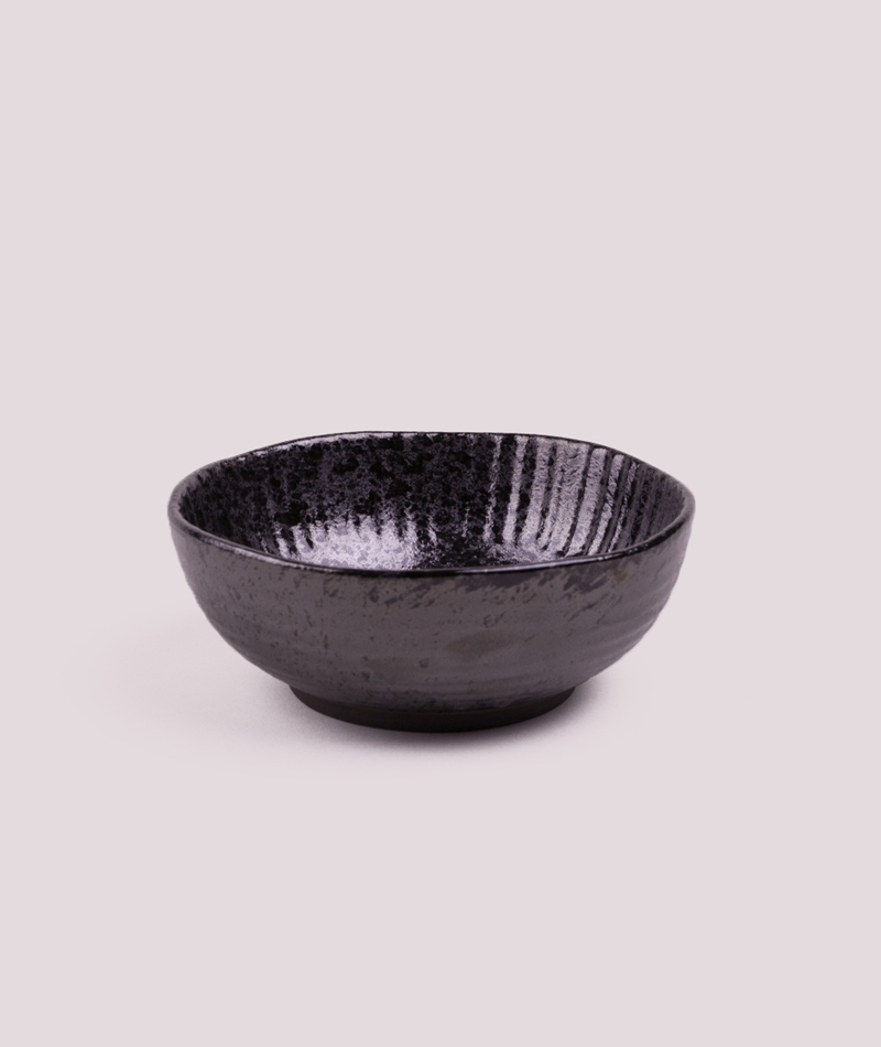 MADAM STOLTZ Stoneware Bowl black