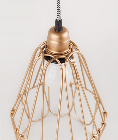 MADAM STOLTZ Wire Lamp gold