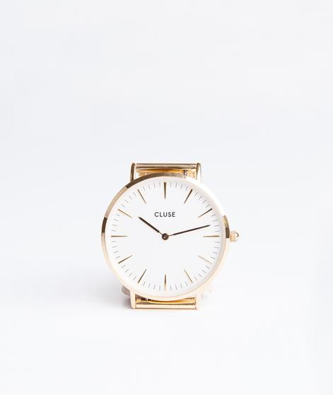 CLUSE La Boheme mesh Uhr gold/white