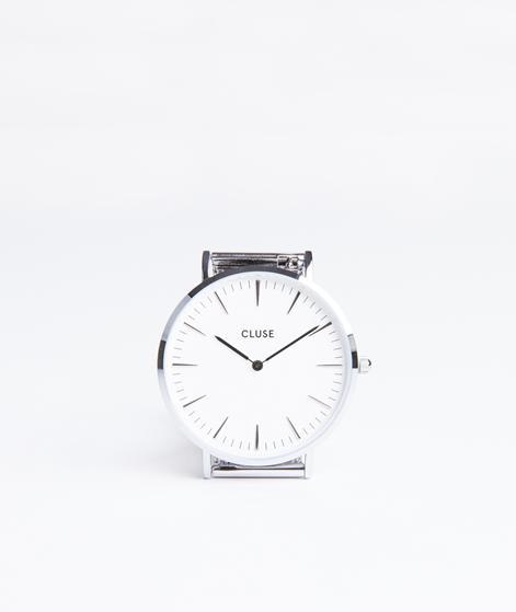 CLUSE La Boheme mesh Uhr silver/white