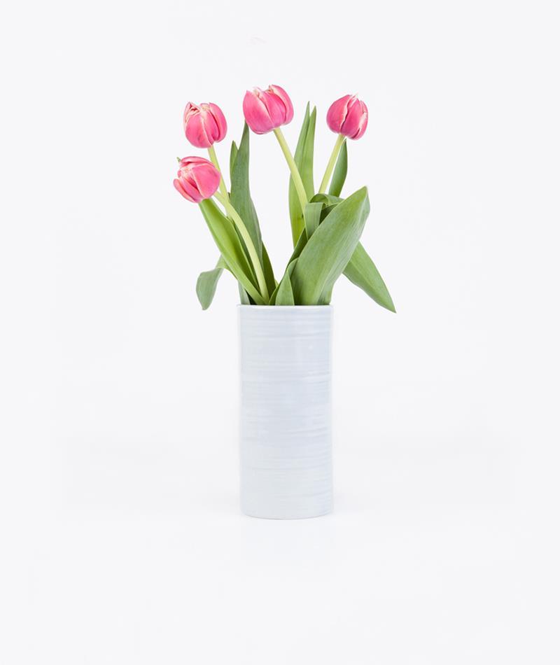 KAUF DICH GLÜCKLICH Pak Vase light grey
