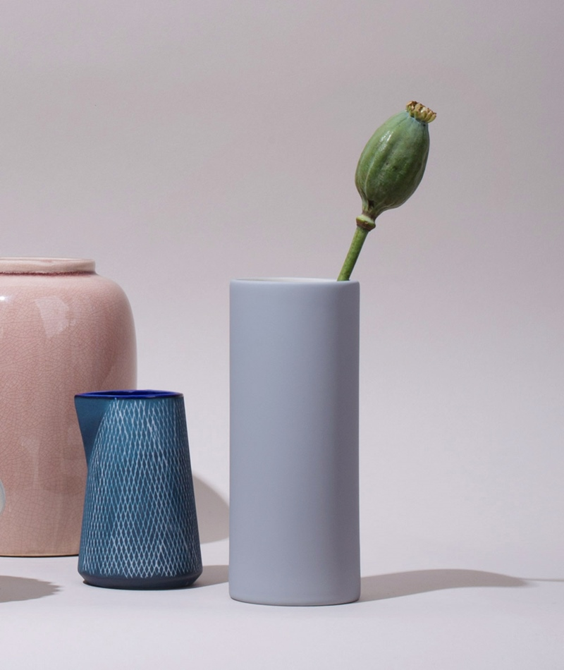 FERM LIVING Collect Vase groß grau