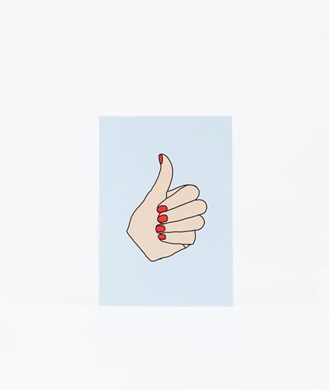 KAUF DICH GLÜCKLICH Postkarte Thumbs Up