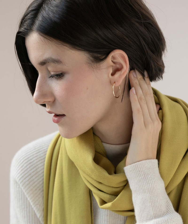 JUKSEREI Hoops Earrings gold