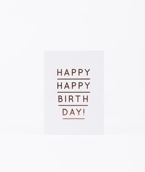 NAVUCKO Postkarte Happy Happy Birthday