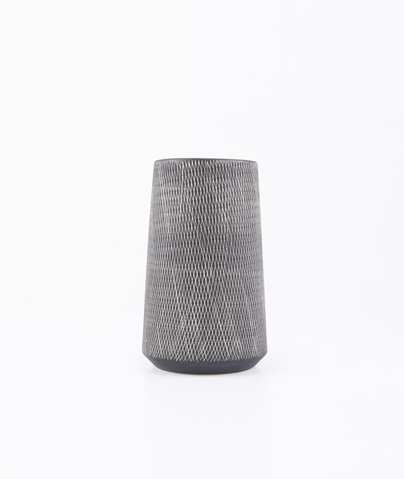LIV Vase Carol groß dunkelgrau