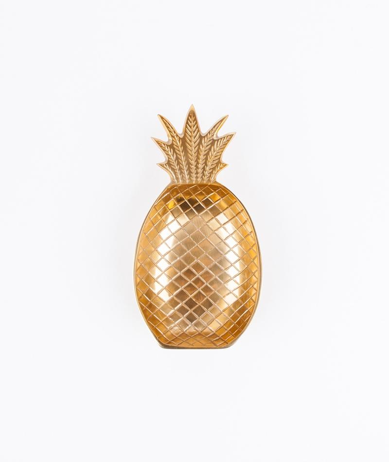 LIV INTERIOR Ananasschale mittel gold