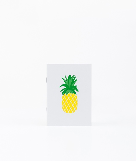 KAUF DICH GLÜCKLICH Notizbuch Ananas