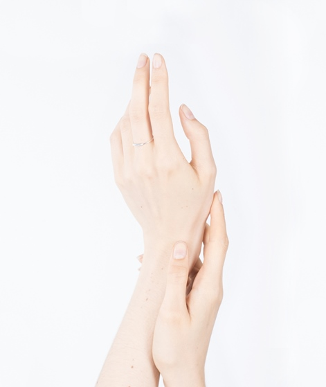JUKSEREI Tube Ring silber