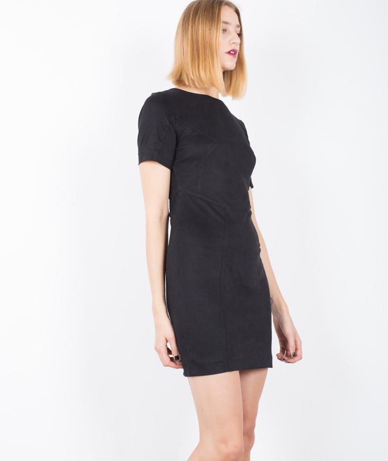 POP COPENHAGEN Peach Skin Kleid black