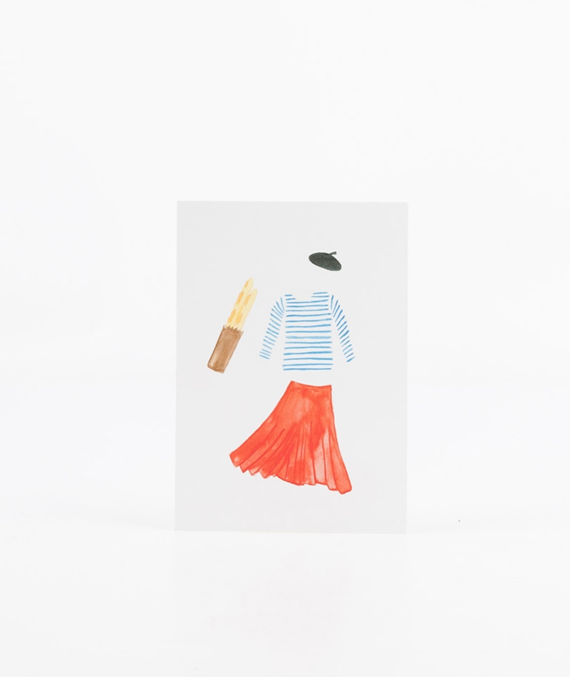 KAUF DICH GLÜCKLICH Postkarte Frankreich