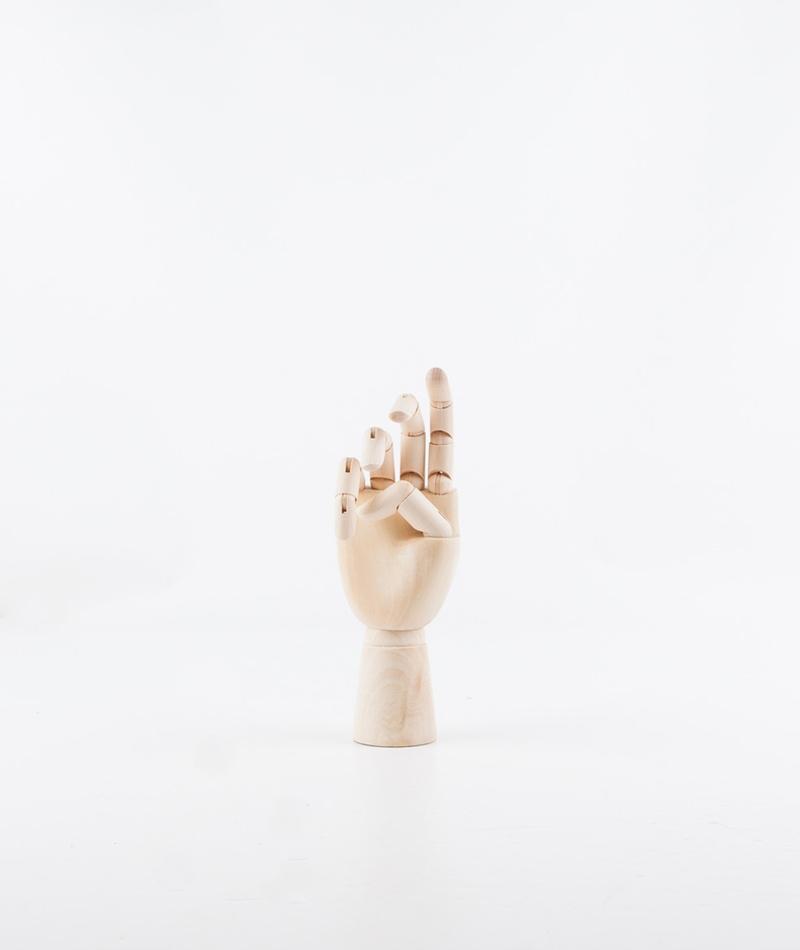 HAY Wooden Hand M Deko