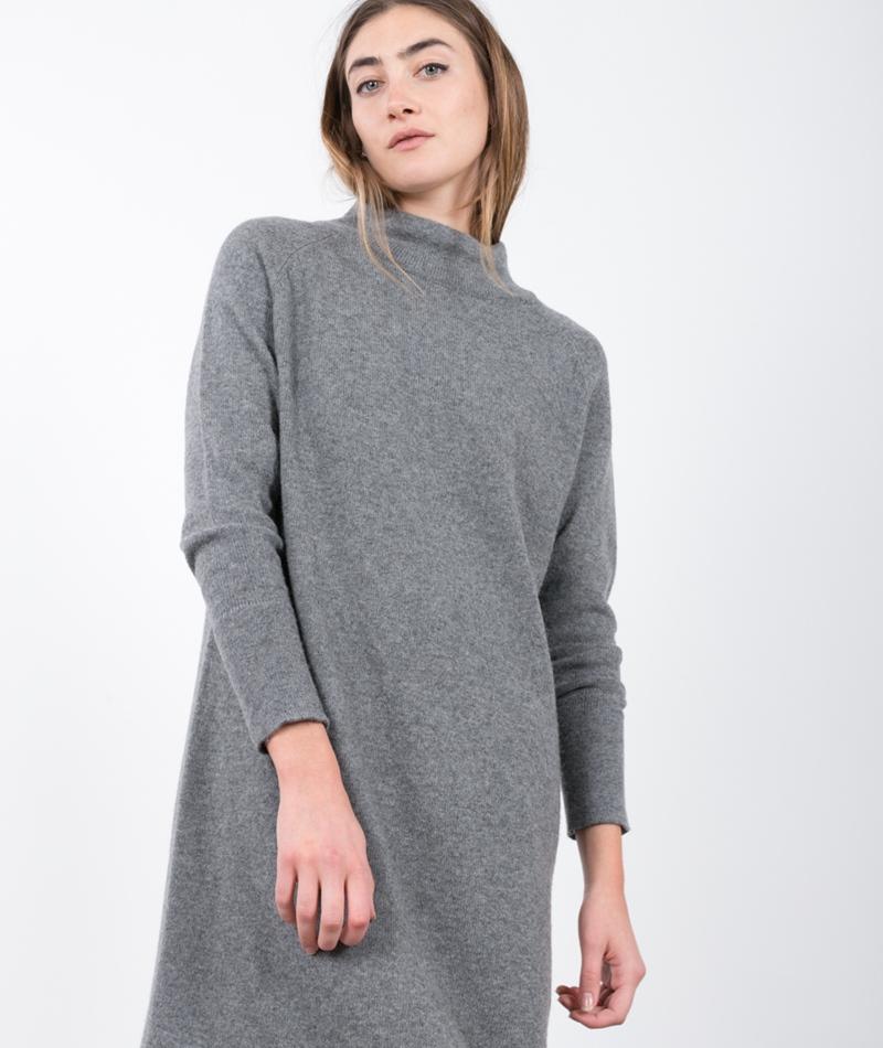 JUST FEMALE Dicte Knit Kleid grey