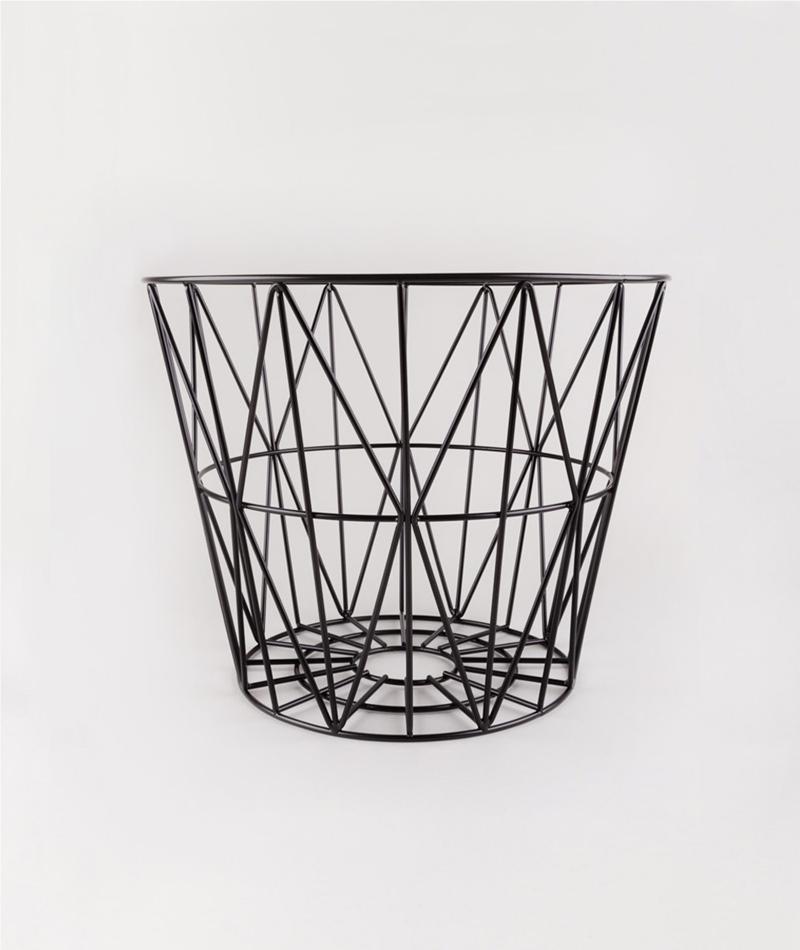 FERM Wire Basket medium black