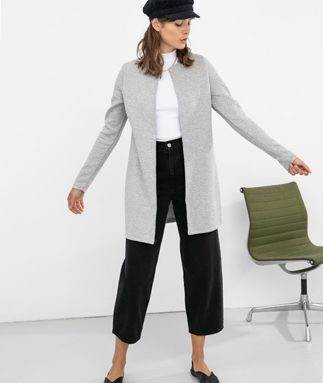 VILA Vinaja New Long Cardigan light grey