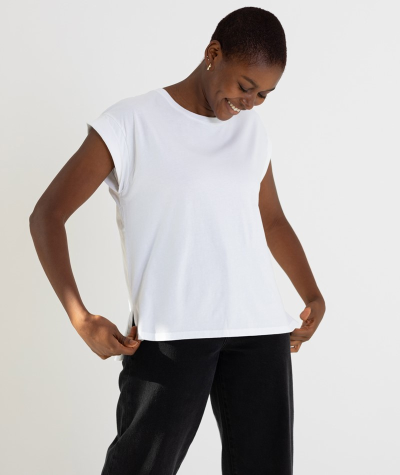 KAUF DICH GLÜCKLICH Amelie T-Shirt weiß
