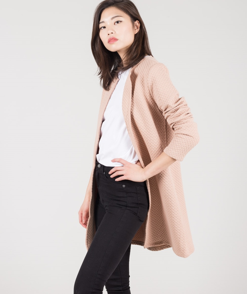 VILA Vinaja New Long Cardigan rugby tan