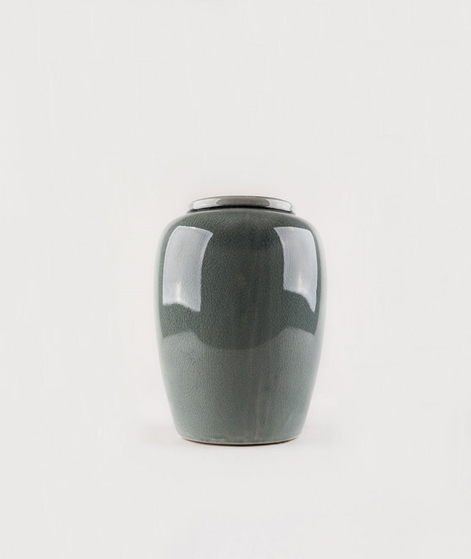 BROSTE Crackle Vase stentoj grün
