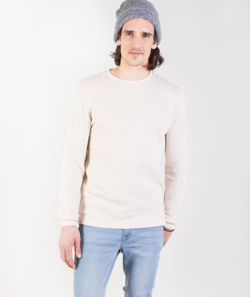 REVOLUTION Cotton/Linen Sweat Pullover