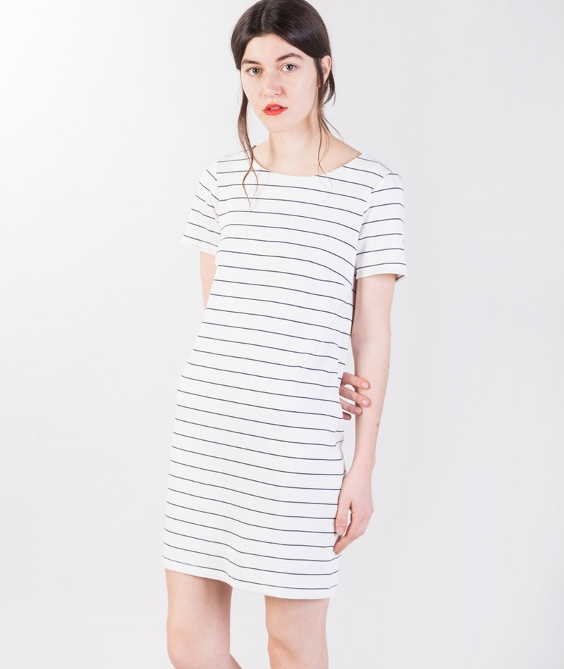VILA Vitinny New S/S Kleid white/total e