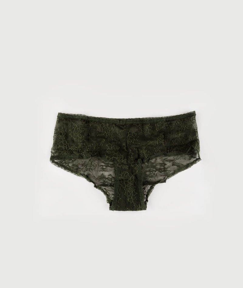 LULUS DRAWER Leah Low Panty army green