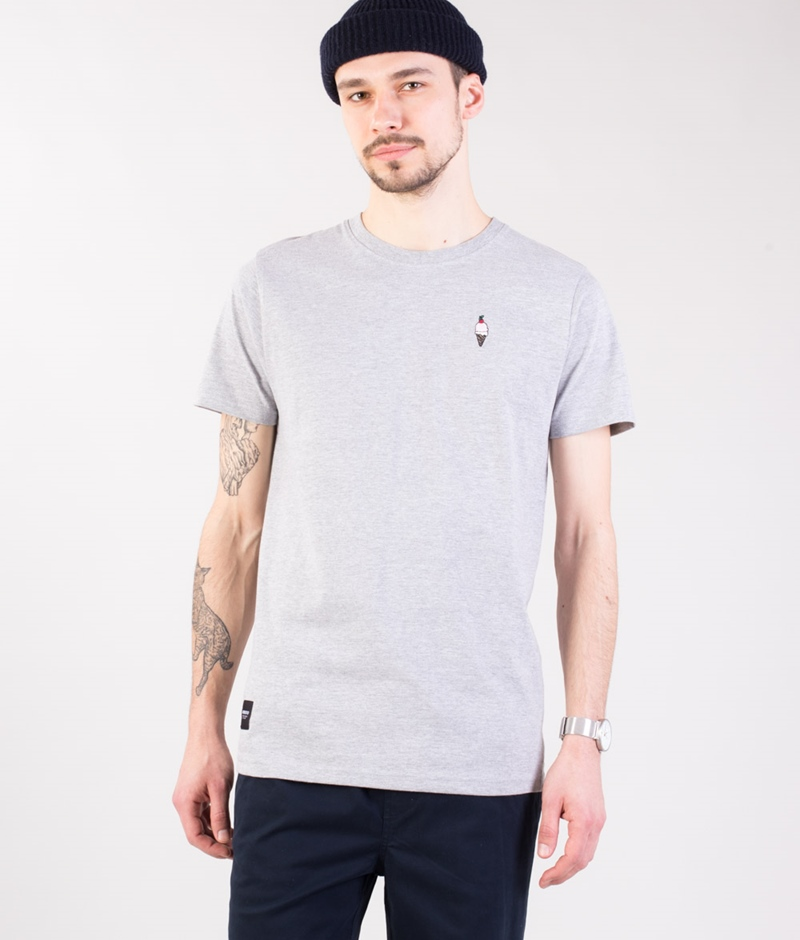 WEMOTO Cream T-Shirt heather
