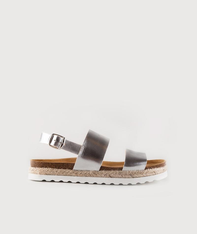 KAUF DICH GLÜCKLICH Sandale metallic
