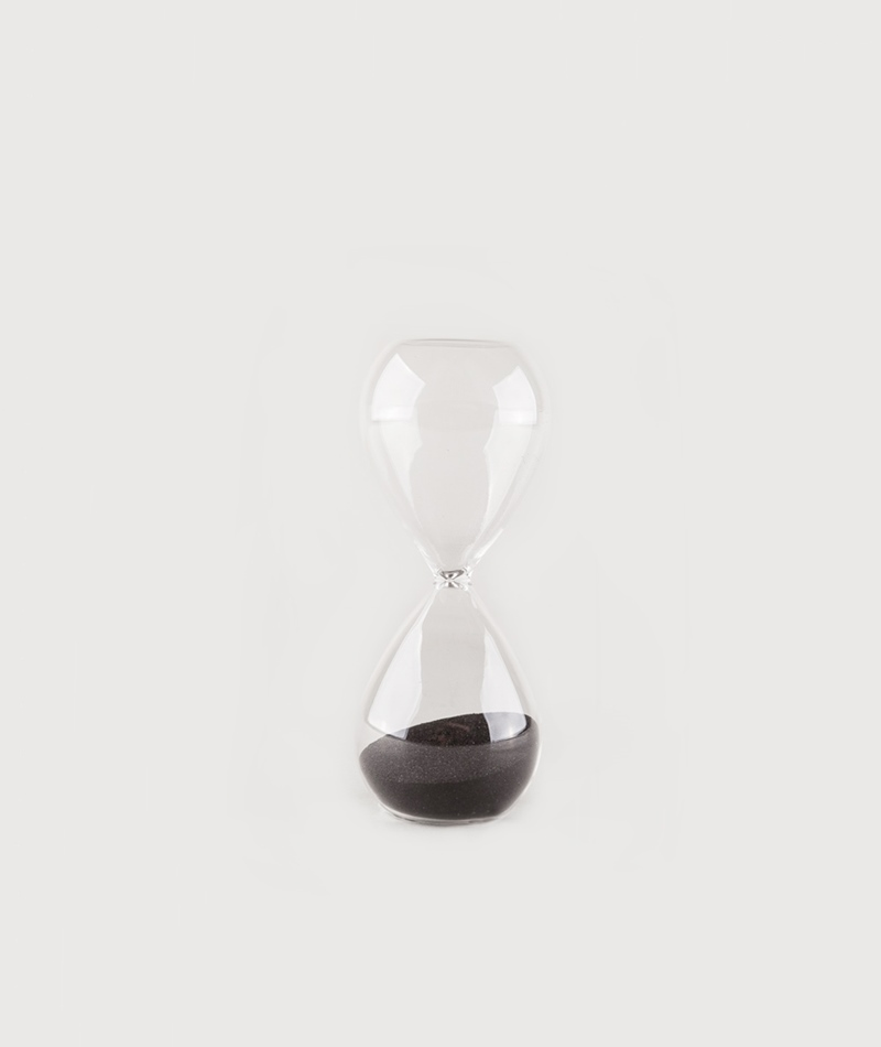 MADAM STOLTZ Hourglass clear/black
