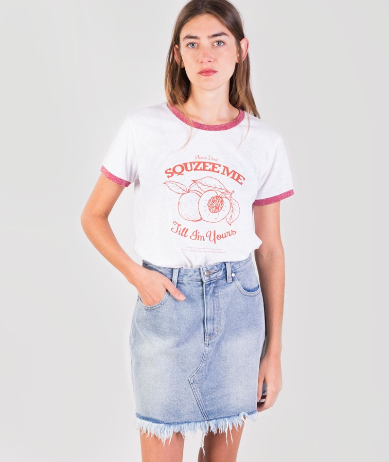 MINKPINK Squeeze me T-Shirt off white