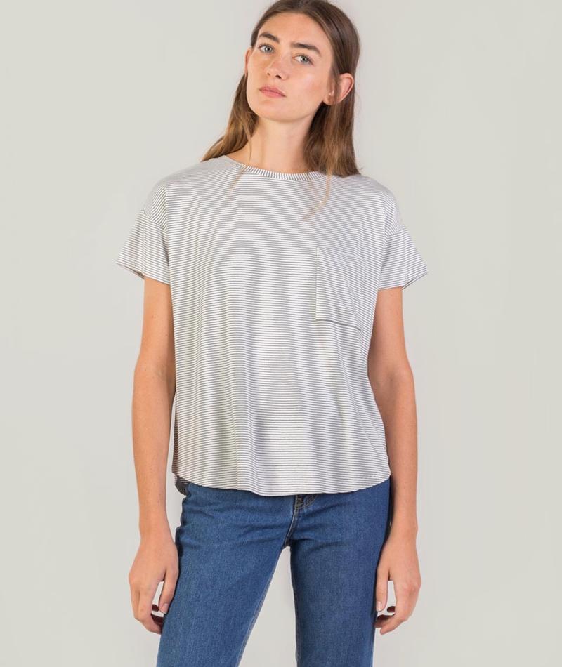 MOSS CPH Agne Visa T-Shirt stripe